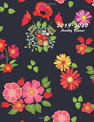 2019-2020 Monthly Planner: Large Two Year Planner with Flower Coloring Pages (Floral Cover Volume 7) por Miracle Planners