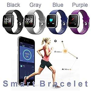 Armband Verbunden Fitness Tracker Wasserdicht Schrittzähler Pulsmesser Kalorienzähler Uhr Bluetooth Uhr GPS Bunte Smart Armband Für Android IOS Smartphone.