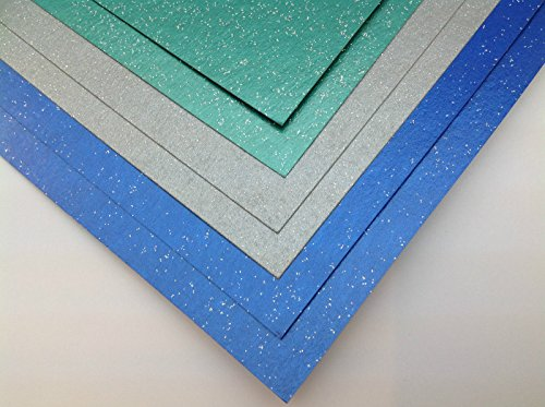 glitter-card-a4-260gsm-1-sided-blue-green-silver-metallic-pearlescent-10-silver-sheets