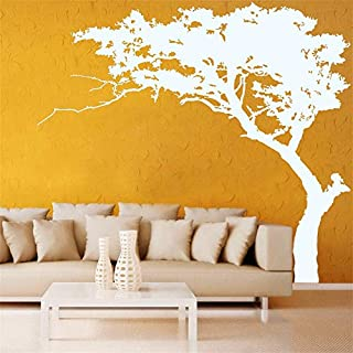 Rocwart Tree Wall Sticker White Pine for Living Room Kids Baby Nursery Wall Decoration Removable Vinyl Family Tree Wall Art Decal 87x71 (White)