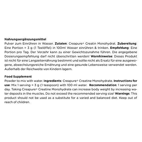 ESN Creapure Creatine Monohydrate, 500 g - 3