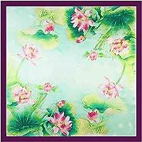 GUOSO Foulard Carré en Soie De Style Chinois Fleur Imprimé Foulard 90 X  90Cm Foulards en dc77b83abea