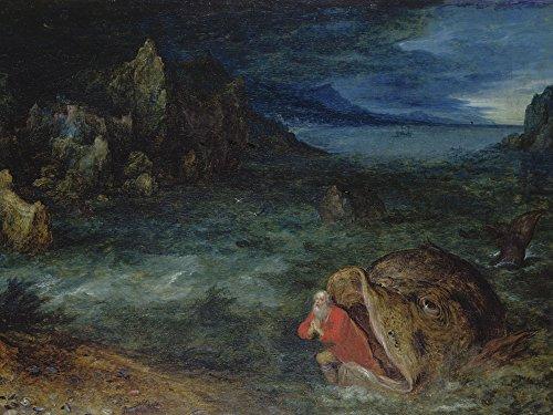 Artland Qualitätsbilder I Poster Kunstdruck Bilder 40 x 30 cm Mythologie Religion Judentum Malerei Blau A2EF Jona entsteigt Dem Walfisch