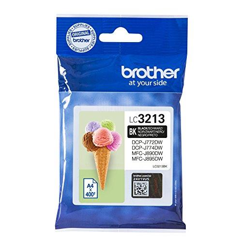 Preisvergleich Produktbild Brother LC-3213BK Tintenpatrone (400 Seiten, geeignet für Brother DCP-J772DW, DCP-J774DW, MFC-J890DW, MFC-J895DW) schwarz