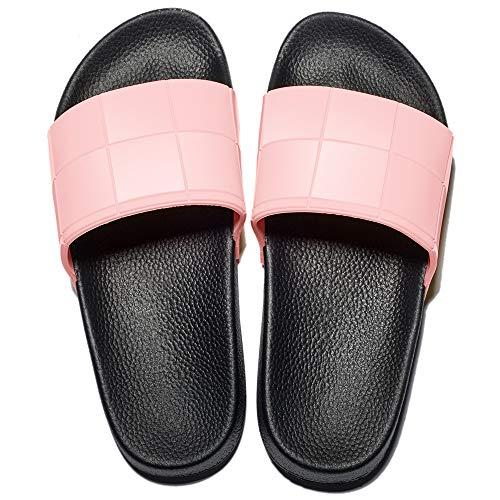 MAYI Damen Rutschfeste Badelatschen Sommer Weiche Hausschuhe Casual Sandalen für Sommer Strand, Pink,37 EU