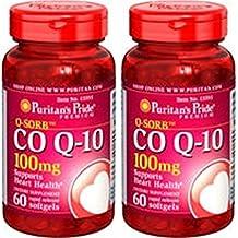 Coenzyma Q10 100 mg 60 perlas. Puritan's Pride (Pack 2u.)