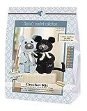Go Handmade 80072 Cats, Burt und Bart 1 Häkel-Set, Baumwolle, schwarz/grau, 16 x 7 x 22 cm
