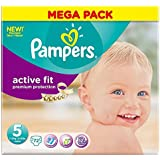 Pampers active Fit Taille 5 Junior 11-25kg (72) - Paquet de 2
