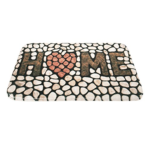 ZhongYeYuanDianZiKeJi Alfombrillas de baño Antideslizantes con Piedra 3D de Entradas Alfombra Antideslizante Decoracion Callejuelas Interiores De La Puerta Delantera para Casa 24x15 (Home)