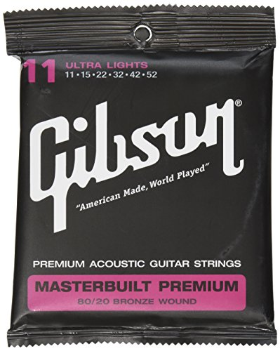Gibson Masterbuilt Premium 80/20 Bronze Saiten für Akustikgitarre