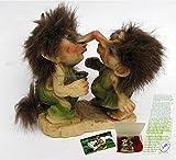 küssendes NyForm Trollpärchen in Geschenkeschachtel