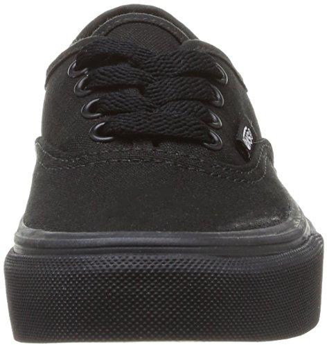 Vans K Authentic, Baskets mode mixte enfant Noir (Blk/Blk)