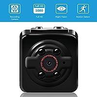 Mini Cam Kamera Vaxiuja 1080P Mini Kamera Full HD Tragbare Kleine Nanny Cam mit Nachtsichtgerät für Zuhause / Büro / Garten / Garage / Indoor / Outdoor Sicherheit Kamera