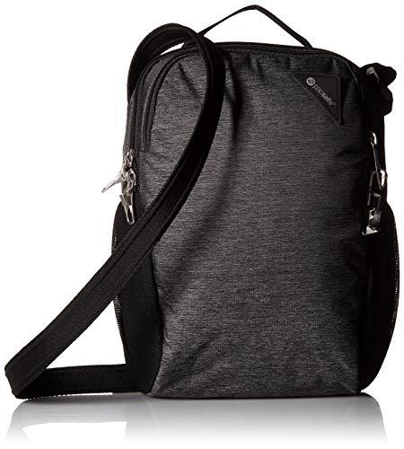 Pacsafe Vibe 200 Unisex-Erwachsene Anti-Theft Compact Travel Bag, Diebstahlschutz Umhängetasche, Grau Meliert/Granite Melange -