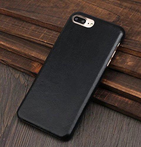 IPhone 7 Plus Case, Retro Style Ultra-Thin Echtes Leder zurück Fall für IPhone 7 / iPhone 7 Plus ( Color : Coffee , Size : IPhone 7 ) Black