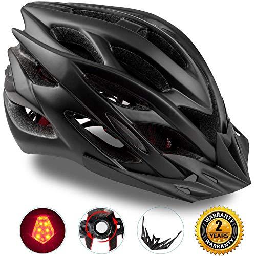 Shinmax Spécialisés Eclairage de Sécurité Casque de Vélo Réglable Vélo Sport Casque Vélo Casques de Vélo Route et VTT Moto Hommes Adultes et Les Femmes Hommes Racing la Protection Sécurité(Noir)