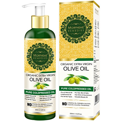Morpheme Remedies Organic Extra Virgin Olive Oil Pure ColdPressed Oil for Hair & Skin - 200ml
