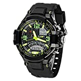 Amlaiworld Orologio da polso per Donne,Impermeabile Multi-funzione orologio sportivo militare al quarzo LED digitale (verde)