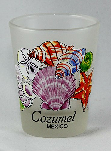 Cozumel Glas (Cozumel Mexico Sea Shells Shot Glass by World By Shotglass)