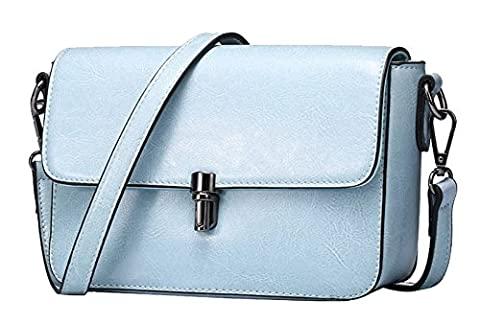 SAIERLONG New Womens Sky Blue Genuine Leather Cross Body Bags Shoulder Bags