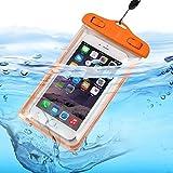 I-Sonite (orange Universal-Transparent Handy, Pass, Geld Wasser wasserdicht Swimming Pool, Meeresschutz Tasche Touch-Responsive Für HTC One ME