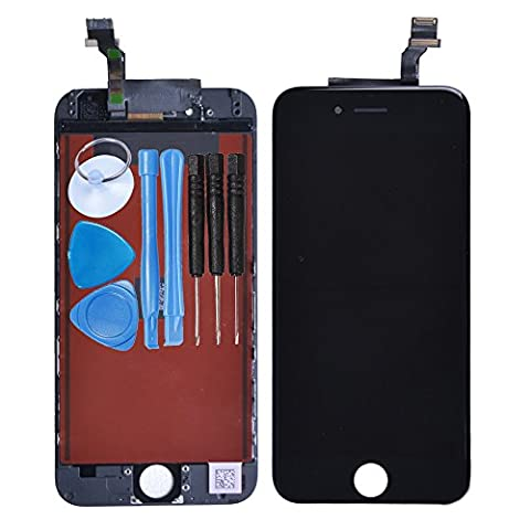 LL TRADER for iPhone 6 Black LCD Display Touch Screen Digitizer Assembly Replacement with Simple