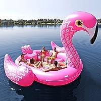 Con l'isola delle creature galleggianti di Otto Simon, nessuna giornata al lago è completa senza un momento di relax tra le ali di un enorme fenicottero galleggiante