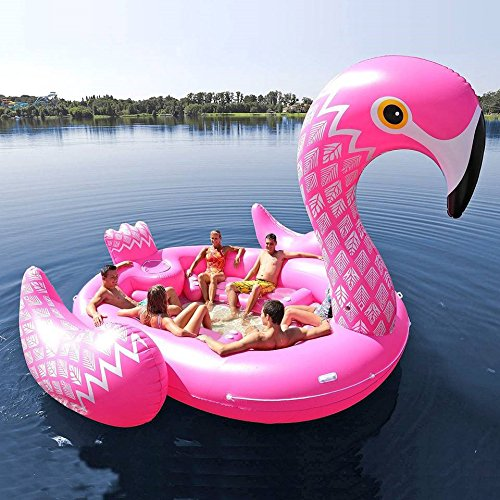Riesige aufblasbare Flamingo 6 Personen Party Insel (Party Bird Island – Flamingo)