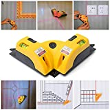 Culater® New Vertical Horizontal Line Word Line Projection Square Level Right Angle Ruler
