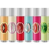 Premium Nature Lip Balm Set - Lippenbalsam mit Bienenwachs Lippenpflegestifte Set 6-Pack Duft Trockene & Rissige Lippen Gesch