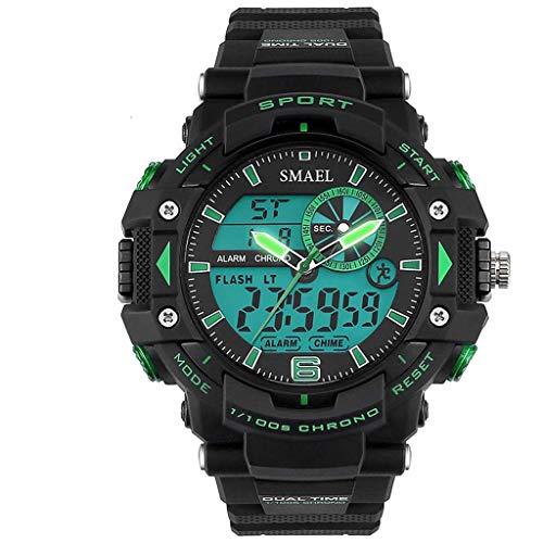 REALIKE Unisex Herren Digitale Armbanduhr, Outdoor Laufen wasserdichte Zeiger Kalender Uhren, Cool Sport große Anzeige LED Sportuhr mit Wecker für Herren Erwachsene Smart Watch