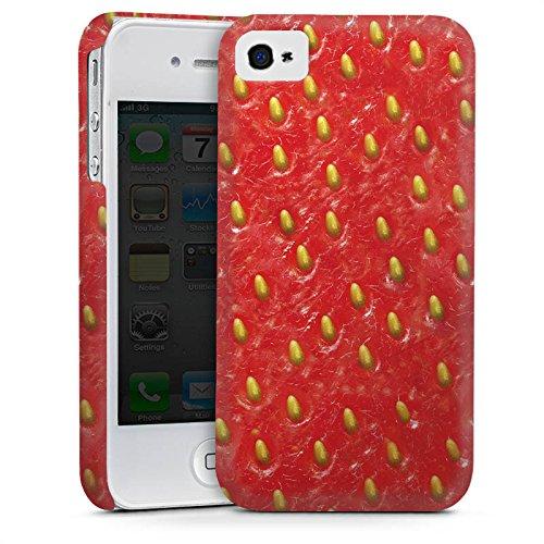 Apple iPhone 5 Housse étui coque protection Fraise Strawberry Strawberry Cas Premium mat