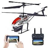 BAZ Helicóptero de Altura Fija Aviones Teledirigidos Aéreos de Largo Alcance del Dron HD en Tiempo Real WiFi,Rojo,30-50 cm