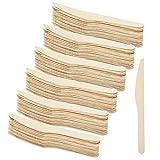 COM-FOUR® Set di coltelli in legno 120 pezzi, coltello monouso in legno, 16,5 cm (120 pezzi - coltello di legno)