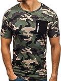 BOLF Herren Army Motiv T-Shirt Red Fireball 1313 Grün(Hell) XXL [3C3]