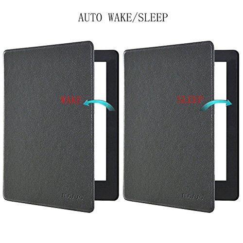 MOSISO Coque Compatible Kobo Aura H2O Edition 2 2017 Housse Anti-Choc/Adhésive avec Fonction de Auto Réveil/Sommeil Étui Kobo Aura H2O Edition 2 6.8 Pouces E Reader, Noir