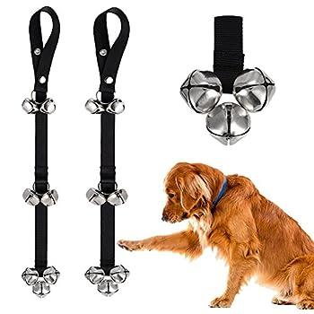 Chien pour sonnettes (2packs) Dogbells Premium de qualité de formation Potty Lot de 7cloches de Great Dog réglable de porte