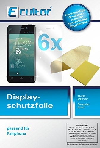 Ecultor I 6X Schutzfolie klar passend für Fairphone Fairphone Folie Bildschirmschutzfolie