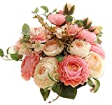 Bouquet artificiel de pivoines Amkun - 1 pièce - Fleurs en soie - Décoration de maison - Mariage...