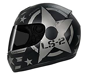 LS2 FF352 Combat Matt Helmet with Mercury Visor (Black, L)