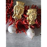 Orecchini siciliani con perle ba