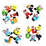 juguetes para niños, Switchali Nuevo 26 piezas De madera Dibujos linda animados Alfabeto A-Z Imanes Regalo Juguete educativo del niño barato gran venta