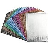 Effekt-Papier, Seidencrash-Optik, metallic, DIN A4, 128g/m², 20 Blatt | Bastelpapier, Glitzerpapier | für Grußkarten, Scrapbooking, DIY, Karten, Basteln, Dekoration