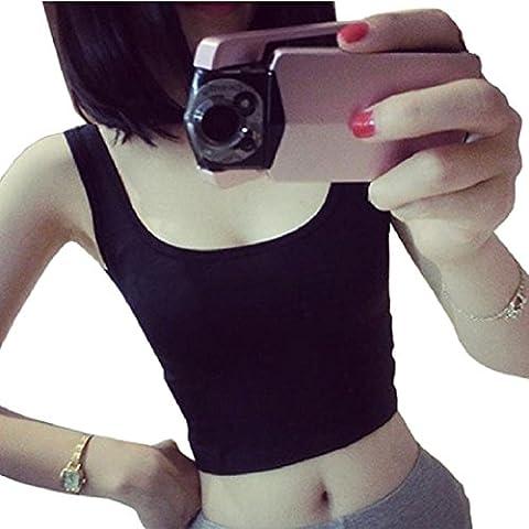 Tops Mujer, Amlaiworld Cosecha apretada Top flacos o-cuello de las camisetas de la danza Deportes Chaleco