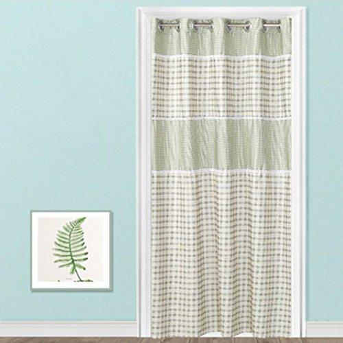 Liuyu · Lebendes Haus Tür Vorhang Tuch abgeschnitten Schlafzimmer Wohnzimmer Erkerfenster lang ( Farbe : Grün , größe : 180*200cm )