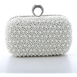 Bolso con perlas para Boda - color Plateado
