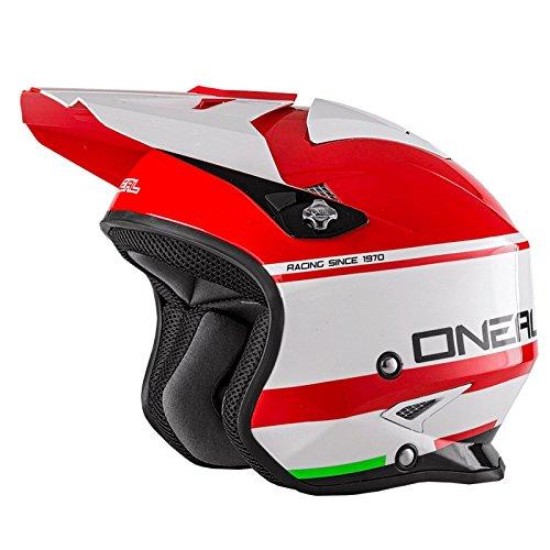 O'Neal Slat Trial Motorrad Roller Fidlock Jet Helm Scooter Crimson Mofa Magnetverschluss Visier, 0806-60, Größe L