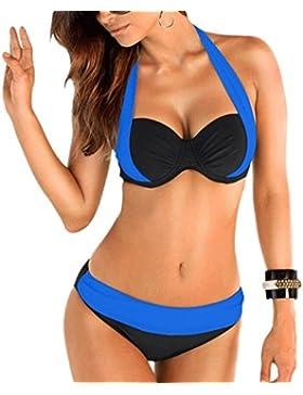 Costume da bagno delle signore Costume da bagno spa dello Swimsuit di spiaggia del bikini spaccato dei colori...