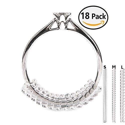 Designs Mit Snuggies (Vancool (18 Stück) Ringverkleinerer Ring Size Adjuster Ringgröße Passform(1,5mm / 2mm / 3mm) ,Paßformen für Ringe mit Silberputztuch)