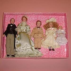 Personnage pour maisons de poupées miniature - Famille 3